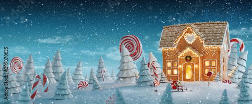 Amazing fairy Christmas house #299870835