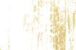 Leinwandbild Motiv Gold splashes Texture. Brush stroke design element. Grunge golden background pattern of cracks, scuffs, chips, stains, ink spots, lines