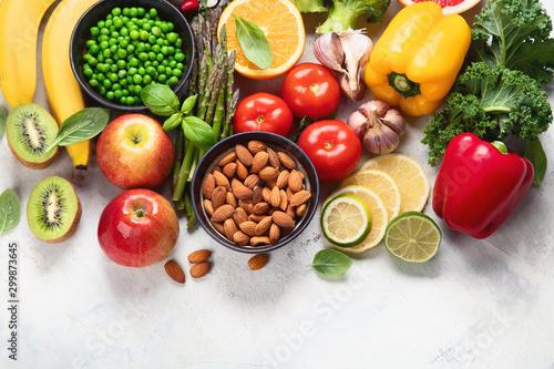 Fototapeta Foods high in vitamin C obraz