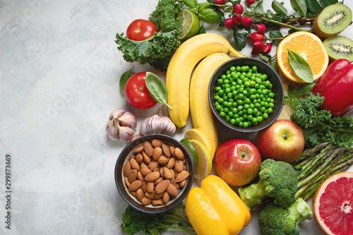 Foods high in vitamin C Obraz na płótnie