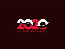 Happy New Year 2020 Text Typog...