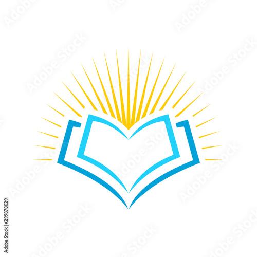 Light of the Al Qoran logo, Scripture logo, University logo Canvas Print