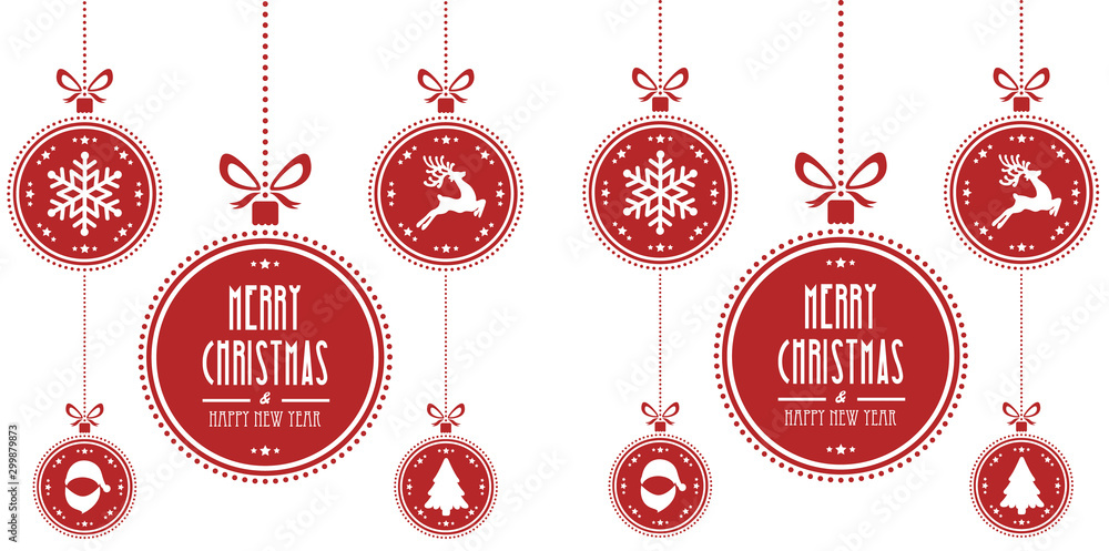 Fototapety, obrazy: christmas ball red isolated background