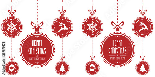 Pinturas sobre lienzo  christmas ball red isolated background