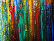 Colorful oil painting cityscape abstract background and texture.