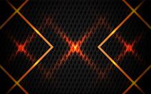 Abstract Orange Line Metal Sha...