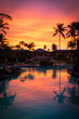 canvas print picture - Sunrise over a Hotel on the Big Island, Hawaii