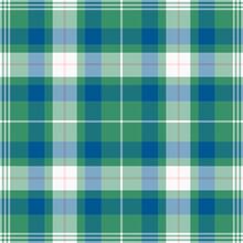 Tartan Green And White Pattern.