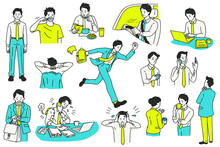 Daily Activities Businessman Character