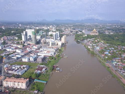 Canvas Prints Ship Kuching, Sarawak / Malaysia - October 16 2019: The buildings, landmarks and scenery of the Kuching city, capital of Sarawak, Borneo island