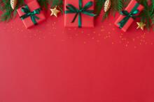 Christmas Flat Lay Background ...