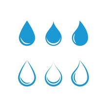 Set Of Water Drop Logo And Sym...