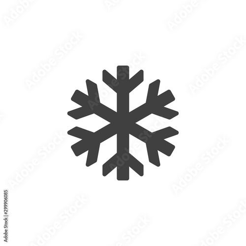 Obraz Keep frozen sign vector icon. filled flat sign for mobile concept and web design. Snowflake glyph icon. Symbol, logo illustration. Vector graphics - fototapety do salonu