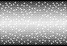 Vector Seamless Pattern. Modern Stylish Texture. Repeating Geometric Tiles From Triangles. Monochrome Grid With Thickness Which Changing Towards The Center