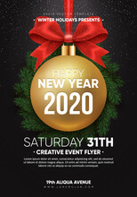 Christmas Party Flyer Design. ...