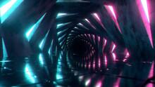 Flying Through A Luminous Neon...