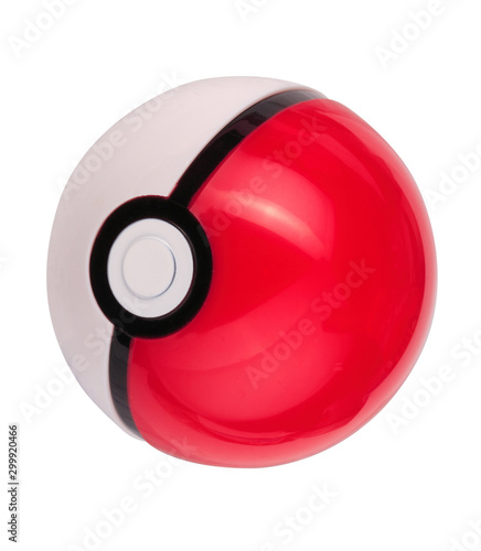 plastic game toy ball isolated Wallpaper Mural