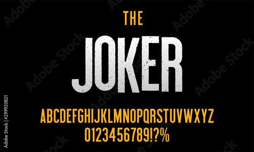Obraz na plátně Modern condensed font with grunge effect for poster design