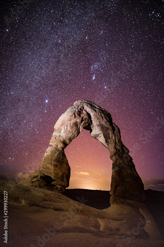 Delicate Arch under the Milky way Canvas Print