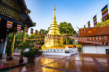 Golden Pagoda in Phra That Chomthong Temple