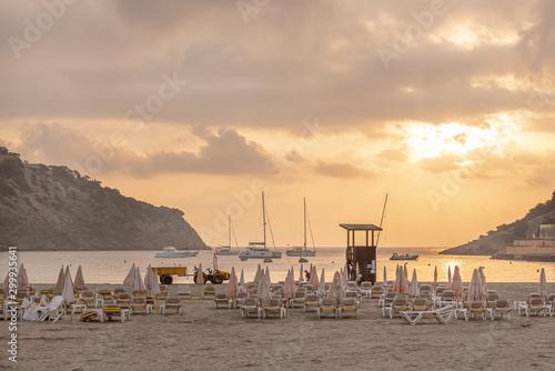 Sunrise by the beach in Ibiza, Spain