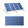 Solar panels realistic 3d vector illustrations set