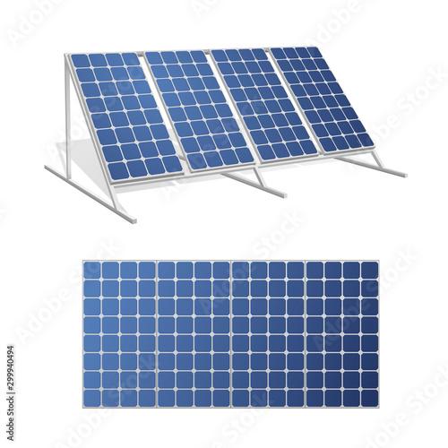 Obraz Solar panels realistic 3d vector illustrations set - fototapety do salonu