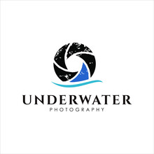 Photography Logo Shutter Simple Rustic Photography Icon With Shark Fin Design Template