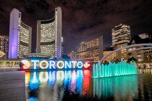 Nathan Phillips Square At Nigh...