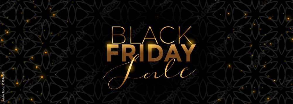Fototapeta gold and black friday sale banner beautiful design
