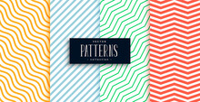 Collection Of Geometric Minimal Lines Pattern Set