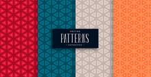 Geometric Triangle Patterns Se...