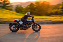 Woman On Motorcyle Biker Lady ...
