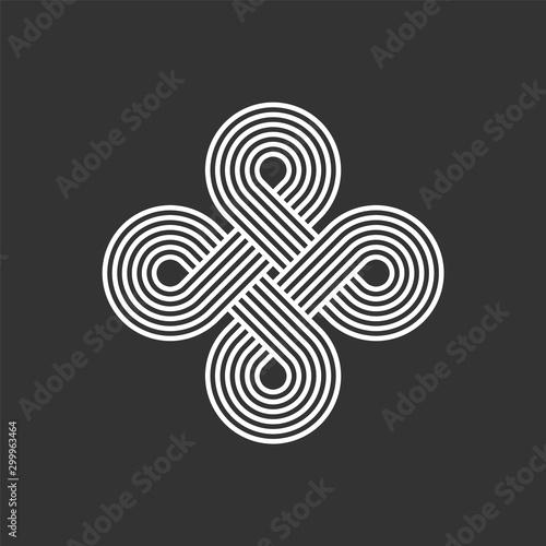 Fotomural  Celtic interlocking knot