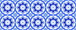 canvas print picture - Islamic  ornament pattern design use for fashion design, decor, scrapbooking, fabric, ceramic, napkin print. Traditional Arabian style, blue  geometry of vintage mosaic .