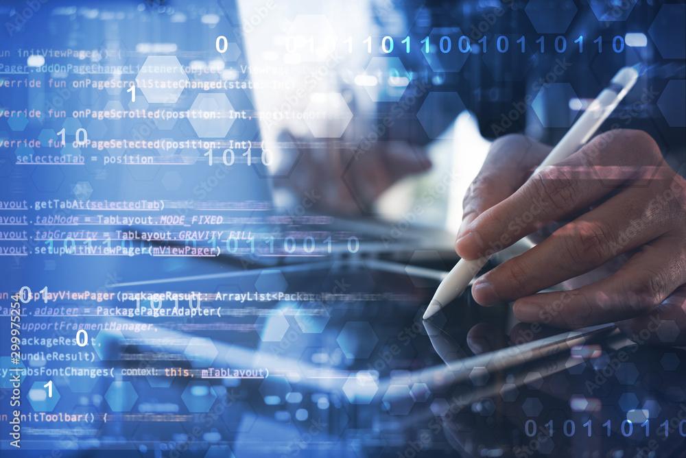 Fototapety, obrazy: Digital software development concept