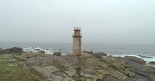 Faro De Muxia On Rock Formatio...
