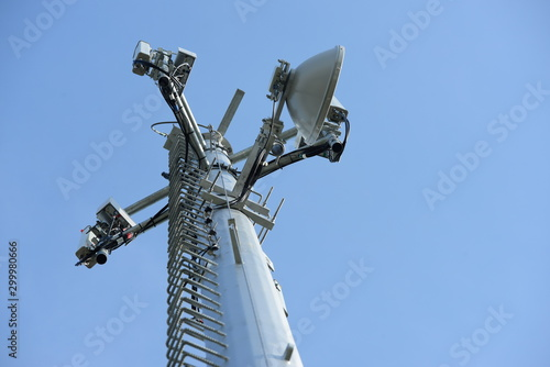 Telecommunication Tower Antennas High Pole Signal Transmission Both Wireless Pho Fototapet