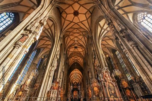 Photo sur Aluminium Con. Antique Inside the Stephans dome in Vienna city center
