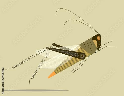 Obraz na płótnie Grasshopper jump