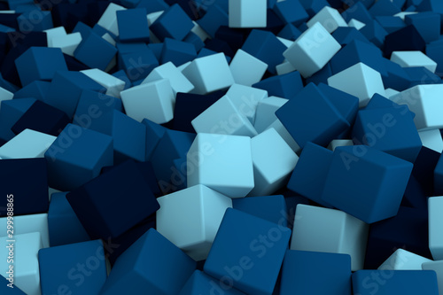 Photo  wallpaper of 3d render bright colorful cubes background