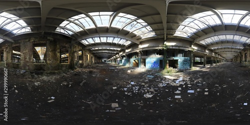 Платно Abandoned Factory HDRI panorama