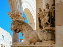 Sculptures At Diocletian Palace At Old City Of Split