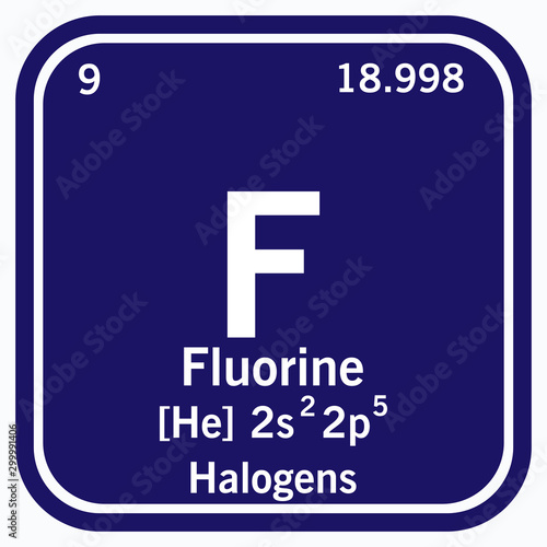 Fluorine Periodic Table of the Elements Vector illustration eps 10