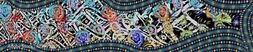 Papel de parede  Digital Textile Saree Design Illustration 41