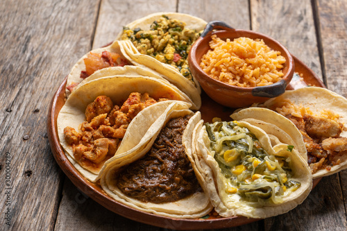Fotobehang Kip Mexican stew tacos also called