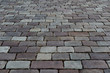 Paving. Stone texture and background. The road surface is made of stone. Pedestrian zone made of stone