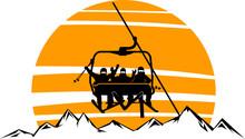 Chairlift Ski Mountain Vector ...