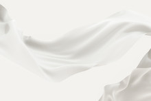Flowing Cloth, White Color Bac...
