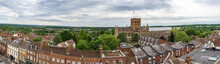 A View Across The Roof Tops Of St Albans, UK In Summertime